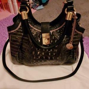 Authentic Brahmin Handbag & Matching Wallet